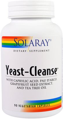 Salud, Desintoxicacion Solaray, Yeast-Cleanse, 90 Vegetarian Capsules