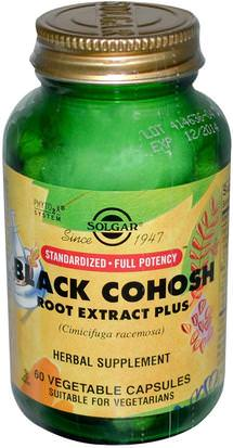 Salud, Mujeres, Cohosh Negro Solgar, Black Cohosh Root Extract Plus, 60 Vegetable Capsules
