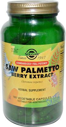 Salud, Hombres Solgar, Saw Palmetto Berry Extract, 180 Vegetable Capsules