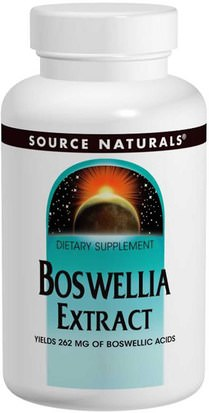 Salud, Inflamación, Boswellia Source Naturals, Boswellia Extract, 100 Tablets
