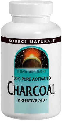 Suplementos, Minerales, Carbón Activado Source Naturals, Charcoal, 260 mg, 200 Capsules