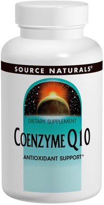 Suplementos, Coenzima Q10, Coq10 200 Mg Source Naturals, Coenzyme Q10, 200 mg, 60 Capsules