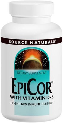 Salud, Gripe Fría Y Viral, Epicor Source Naturals, EpiCor with Vitamin D-3, 500 mg, 30 Capsules