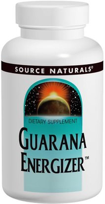 Salud, Energía Source Naturals, Guarana Energizer, 900 mg, 200 Tablets