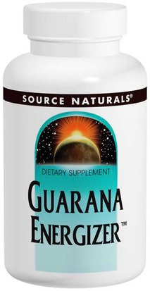 Salud, Energía Source Naturals, Guarana Energizer, 900 mg, 60 Tablets
