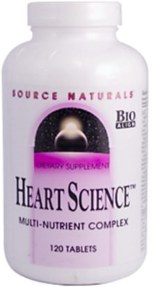 Vitaminas, Multivitaminas, Salud Cardiovascular, Apoyo Cardíaco Source Naturals, Heart Science, 120 Tablets