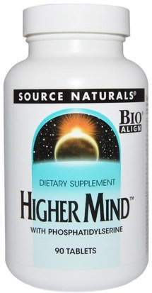 Vitaminas, Multivitaminas, Salud, Estado De Ánimo Source Naturals, Higher Mind, 90 Tablets
