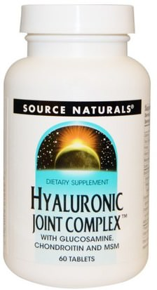 Salud, Mujeres, Hialurónico Source Naturals, Hyaluronic Joint Complex, 60 Tablets