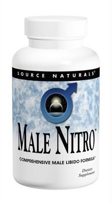 Salud, Hombres, Yohimbe Source Naturals, Male Nitro, 30 Tablets