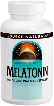 Suplementos, Complejo De Melatonina Source Naturals, Melatonin, 5 mg, Peppermint Flavored Sublingual, 200 Tablets