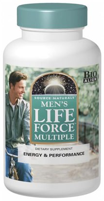 Vitaminas, Hombres Multivitaminas, Fuerza Vital Source Naturals, Mens Life Force Multiple, 180 Tablets