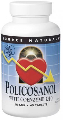Suplementos, Policosanol Source Naturals, Policosanol with Coenzyme Q10, 10 mg, 60 Tablets