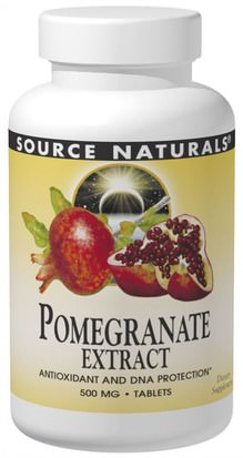 Suplementos, Antioxidantes, Extracto De Jugo De Granada Source Naturals, Pomegranate Extract, 240 Tablets
