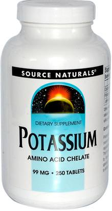 Suplementos, Minerales, Potasio Source Naturals, Potassium, 99 mg, 250 Tablets