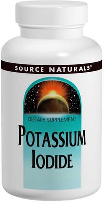 Suplementos, Minerales, Yoduro De Potasio Source Naturals, Potassium Iodide, 32.5 mg, 120 Tablets