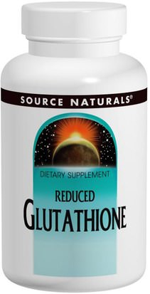 Suplementos, L Glutatión, Aminoácidos Source Naturals, Reduced Glutathione, 250 mg, 60 Tablets