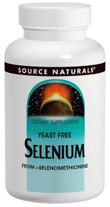 Suplementos, Antioxidantes, Selenio Source Naturals, Selenium, From L-Selenomethionine, 200 mcg, 120 Tablets
