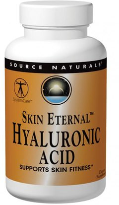 Salud, Hueso, Osteoporosis, Colágeno, Mujeres, Belleza Source Naturals, Skin Eternal Hyaluronic Acid, 50 mg, 60 Tablets