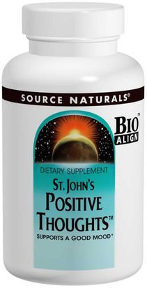 Hierbas, St. Johns Wort, Relora Source Naturals, St. Johns Positive Thoughts, 45 Tablets