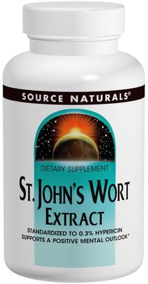 Hierbas, St. Johns Wort Source Naturals, St. Johns Wort Extract, 300 mg, 240 Tablets