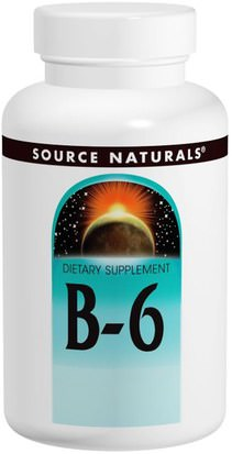 Vitaminas, Vitamina B6 - Piridoxina Source Naturals, Vitamin B-6, 100 mg, 100 Tablets