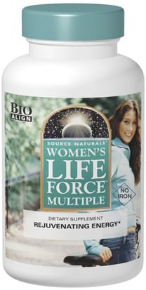 Salud, Mujeres, Fuerza Vital Source Naturals, Womens Life Force Multiple, No Iron, 90 Tablets