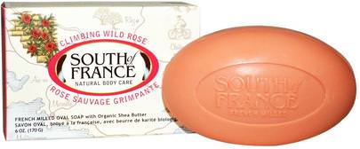 Baño, Belleza, Jabón, Manteca De Karité South of France, Climbing Wild Rose, French Milled Oval Soap with Organic Shea Butter, 6 oz (170 g)