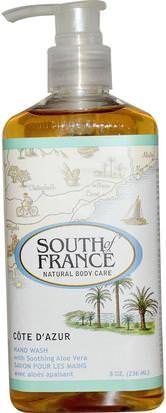 Baño, Belleza, Jabón South of France, Cote D Azur, Hand Wash with Soothing Aloe Vera, 8 oz (236 ml)
