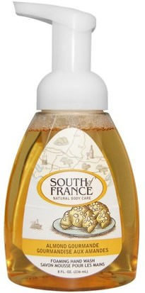 Baño, Belleza, Jabón, Jabón Espumoso South of France, Foaming Hand Wash, Almond Gourmande, 8 fl oz (236 ml)