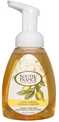 Baño, Belleza, Jabón, Jabón Espumoso South of France, Foaming Hand Wash, Lemon Verbena, 8 fl oz (236 ml)