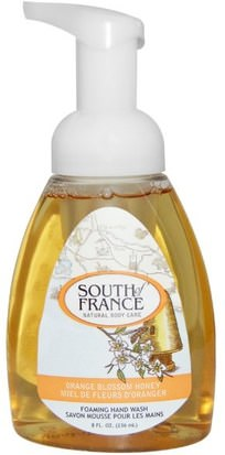 Baño, Belleza, Jabón, Jabón Espumoso South of France, Foaming Hand Wash, Orange Blossom Honey, 8 fl oz (236 ml)