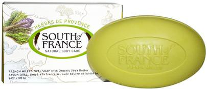 Baño, Belleza, Jabón, Manteca De Karité South of France, Herbes De Provence, French Milled Oval Soap with Organic Shea Butter, 6 oz (170 g)