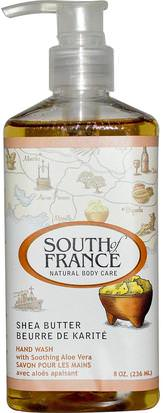Baño, Belleza, Jabón South of France, Shea Butter, Hand Wash with Soothing Aloe Vera, 8 oz (236 ml)