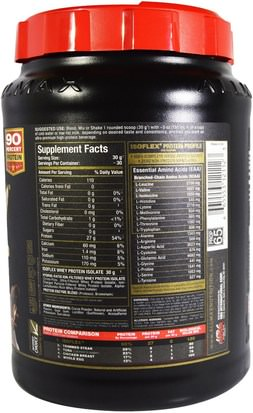 ALLMAX Nutrition, Isoflex, 100% Ultra-Pure Whey Protein Isolate (WPI Ion-Charged Particle Filtration), Chocolate, 2 lbs (907 g) Deportes