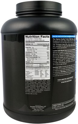 Dymatize Nutrition, Elite, 100% Whey Protein, Chocolate Cake Batter, 5 lbs (2.27 kg) Deportes, Músculo