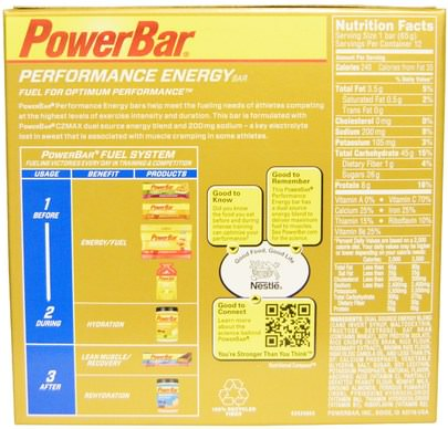 PowerBar, Performance Energy Bar, Vanilla Crisp, 12 Bars, 2.29 oz (65 g) Each Deportes, Barras De Proteína