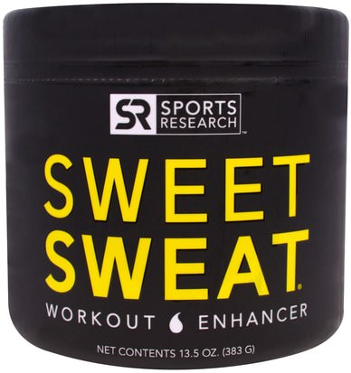 Deportes, Entrenamiento, Salud Sports Research, Sweet Sweat Workout Enhancer, 13.5 oz (383 g)