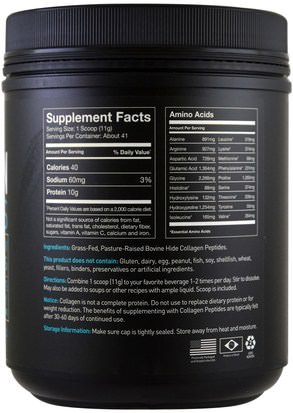 Sports Research, Collagen Peptides, Unflavored, 16 oz (454 g) Deportes, Deporte, Hueso, Osteoporosis, Colágeno