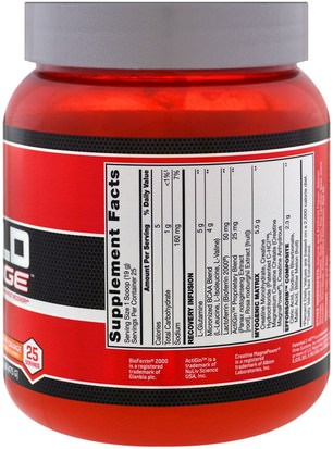 BSN, Rebuild Edge, Strawberry Orange, 1.05 lb (475 g) Deportes, Deporte