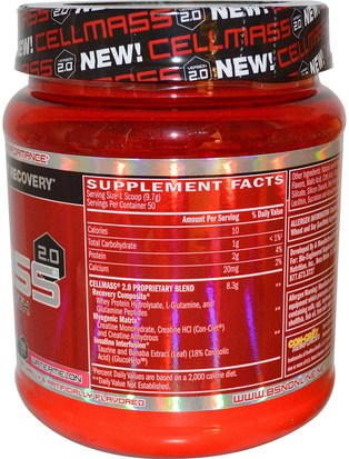 BSN, Cellmass 2.0, Concentrated Post Workout Recovery, Watermelon, 1.06 lbs (485 g) Deportes, Deporte, Musculatura
