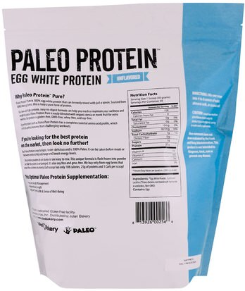 The Julian Bakery, Paleo Protein, Egg White Protein, Unflavored, 2 lbs (907 g) Deportes, Suplementos, Proteínas