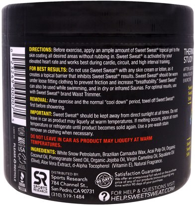 Sports Research, Sweet Sweat Workout Enhancer, 13.5 oz (383 g) Deportes, Entrenamiento, Salud