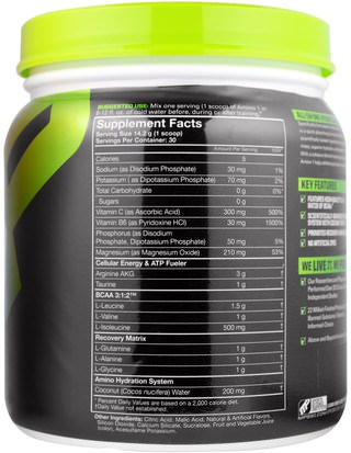 MusclePharm, Amino 1, Hydrate + Recover, Fruit Punch.15 oz (426 g) Deportes, Entrenamiento, Deporte