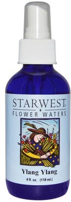 Baño, Belleza, Aceites Esenciales De Aromaterapia, Aceite De Ylang Ylang Starwest Botanicals, Flower Waters, Ylang Ylang, 4 fl oz (118 ml)