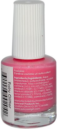 Baño, Belleza, Maquillaje, Esmalte De Uñas Suncoat Girl, Water-Based Nail Polish, Fairy Glitter 0.27 oz (8 ml)