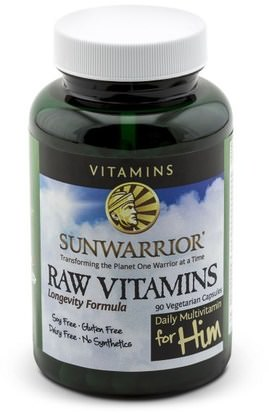Vitaminas, Multivitaminas Masculinas, Vitaminas Crudas De Sol Guerrero Sunwarrior, Raw Vitamins, Daily Multivitamin for Him, 90 Veggie Caps