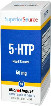 Suplementos, 5-Htp, 5-Htp 50 Mg Superior Source, 5-HTP, 50 mg, 60 MicroLingual Instant Dissolve Tablets