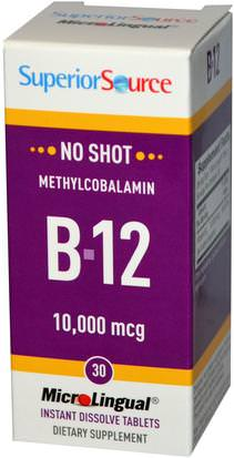 Vitaminas, Vitamina B, Vitamina B12, Vitamina B12 - Metilcobalamina Superior Source, Methylcobalamin B-12, 10,000 mcg, 30 MicroLingual Instant Dissolve Tablets