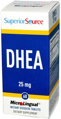 Suplementos, Dhea, Salud Superior Source, DHEA, 25 mg, 60 MicroLingual Instant Dissolve Tablets