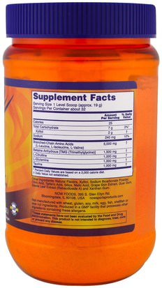 Now Foods, Sports, BCAA Big 6, Natural Grape Flavor, 21.16 oz (600 g) Suplementos, Aminoácidos, Bcaa (Aminoácido De Cadena Ramificada)